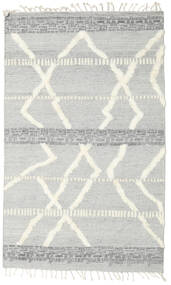 Barchi/Moroccan Berber - Indo Matto 153X250 Moderni Käsinsolmittu Vaaleanharmaa/Valkoinen/Creme (Villa, Intia)