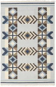 キリム インド 絨毯 160X230 モダン 手織り 薄い灰色/ベージュ (ウール, インド)