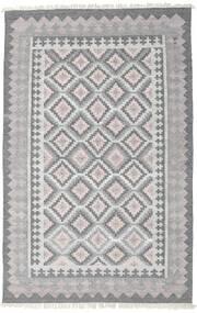 Pet Yarn Kilim Tapis 160X230 Moderne Tissé À La Main Gris Clair/Gris Foncé ( Inde)