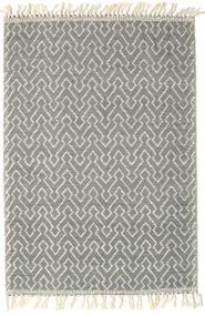 Kelim Drop/Struktur Teppich  160X230 Echter Moderner Handgewebter Dunkelgrau/Hellgrau (Wolle, Indien)