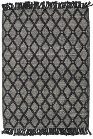 Kilim Drop/Struktur Rug 160X230 Authentic Modern Handwoven Black/Dark Grey/Light Grey (Wool, India)