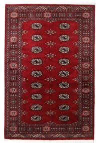Paquistão Bucara 2Ply Tapete 124X190 Oriental Feito A Mão Vermelho Escuro/Vermelho (Lã, Paquistão)