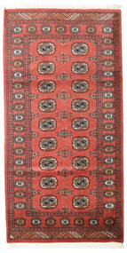 Pakistan Bokhara 2Ply Rug 102X201 Authentic  Oriental Handknotted Dark Red/Rust Red (Wool, Pakistan)