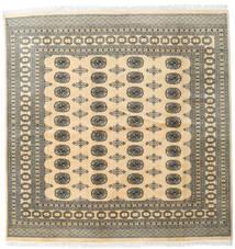 Pakistański Bucharski 2Ply Dywan 199X202 Orientalny Tkany Ręcznie Kwadratowy Beżowy/Jasnoszary (Wełna, Pakistan)