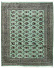 Pakistan Bokhara 2Ply Matto 203X251 Itämainen Käsinsolmittu Tummanharmaa/Pastellinvihreä (Villa, Pakistan)