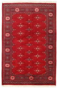 Pakistan Bukara 2Ply Alfombra 126X189 Oriental Hecha A Mano Roja/Rojo Oscuro (Lana, Pakistán)