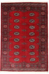 Pakistan Bukara 2Ply Alfombra 126X183 Oriental Hecha A Mano Rojo Oscuro/Roja (Lana, Pakistán)