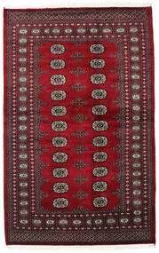 Pakistan Bokhara 2Ply Rug 136X210 Authentic  Oriental Handknotted Dark Red (Wool, Pakistan)