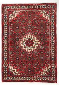 Hamadan Dywan 101X148 Orientalny Tkany Ręcznie Ciemnoczerwony/Ciemnobrązowy (Wełna, Persja/Iran)