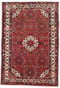 Hamadan Matto 106X156 Itämainen Käsinsolmittu Tummanruskea/Tummanpunainen (Villa, Persia/Iran)