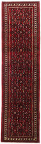 Hosseinabad Rug 83X303 Authentic  Oriental Handknotted Hallway Runner  Dark Red (Wool, Persia/Iran)
