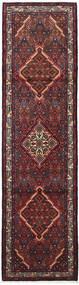 Asadabad Matto 82X308 Itämainen Käsinsolmittu Käytävämatto Tummanpunainen/Musta (Villa, Persia/Iran)