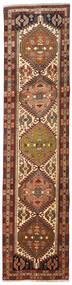 Hamadan Matta 77X316 Äkta Orientalisk Handknuten Hallmatta Mörkröd/Mörkbrun (Ull, Persien/Iran)