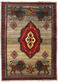 Ghashghai Matto 123X171 Itämainen Käsinsolmittu Tummanruskea/Vaaleanruskea (Villa, Persia/Iran)