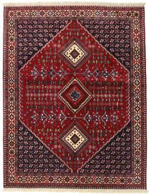 Yalameh Matta 152X195 Äkta Orientalisk Handknuten Mörkröd (Ull, Persien/Iran)