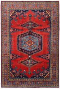 Wiss Vloerkleed 219X328 Echt Oosters Handgeknoopt Donkerrood/Zwart/Roestkleur (Wol, Perzië/Iran)