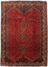 Shiraz Rug 204X286 Authentic  Oriental Handknotted Dark Red/Dark Brown (Wool, Persia/Iran)