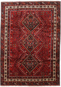 Shiraz Teppich  219X308 Echter Orientalischer Handgeknüpfter Dunkelrot/Dunkelbraun (Wolle, Persien/Iran)