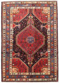 Hamadan Rug 122X174 Authentic  Oriental Handknotted Dark Red/Rust Red (Wool, Persia/Iran)