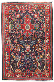 Mahal Rug 89X136 Authentic Oriental Handknotted Black/Dark Red (Wool, Persia/Iran)