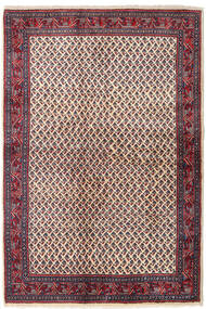 Sarough Mir Vloerkleed 129X194 Echt Oosters Handgeknoopt Donkerpaars/Beige (Wol, Perzië/Iran)