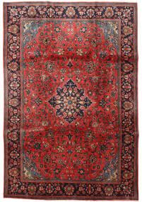 Mahal Vloerkleed 209X307 Echt Oosters Handgeknoopt Donkerrood/Roestkleur (Wol, Perzië/Iran)
