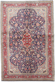Sarouk Rug 135X204 Authentic Oriental Handknotted Light Grey/Dark Purple (Wool, Persia/Iran)