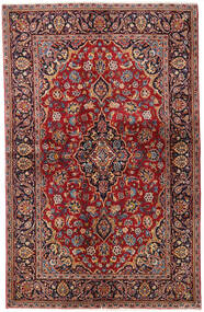 Keshan Rug 138X216 Authentic Oriental Handknotted Dark Red/Dark Brown (Wool, Persia/Iran)