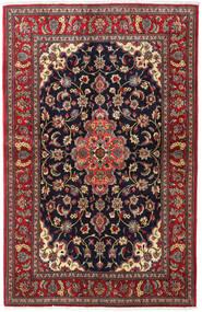 Isfahan Sherkat Farsh Rug 142X222 Authentic Oriental Handknotted Dark Grey/Dark Red (Wool/Silk, Persia/Iran)