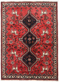 Shiraz Rug 150X206 Authentic Oriental Handknotted Dark Red/Rust Red (Wool, Persia/Iran)