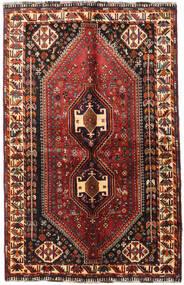 Shiraz Rug 135X214 Authentic  Oriental Handknotted Dark Red/Black (Wool, Persia/Iran)