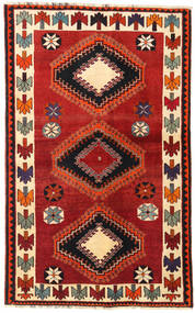 Qashqai Rug 129X208 Authentic  Oriental Handknotted Rust Red/Black (Wool, Persia/Iran)