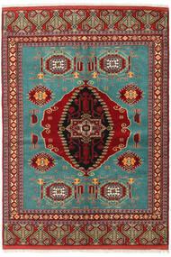 Turkaman Rug 137X193 Authentic  Oriental Handknotted Dark Red/Dark Brown (Wool, Persia/Iran)
