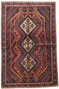 Afshar Shahre Babak Matto 148X235 Itämainen Käsinsolmittu Tummanpunainen/Tummanruskea (Villa, Persia/Iran)