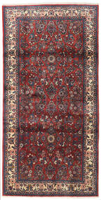 Sarouk Rug 102X202 Authentic Oriental Handknotted Dark Red/Dark Purple (Wool, Persia/Iran)