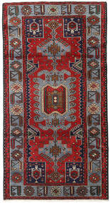 Hamadan Matto 106X202 Itämainen Käsinsolmittu Tummanpunainen/Tummanruskea (Villa, Persia/Iran)