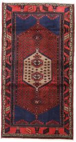 Hamadan Matto 105X195 Itämainen Käsinsolmittu Tummanpunainen/Tummansininen (Villa, Persia/Iran)