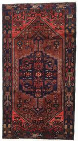 Hamadan Rug 108X201 Authentic  Oriental Handknotted Dark Red/Dark Brown (Wool, Persia/Iran)
