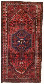 Hamadan Matto 104X202 Itämainen Käsinsolmittu Tummanpunainen/Ruoste (Villa, Persia/Iran)