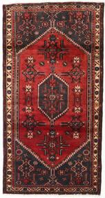 Hamadan Teppich  104X197 Echter Orientalischer Handgeknüpfter Dunkelrot/Schwartz (Wolle, Persien/Iran)