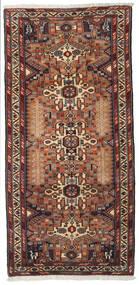 Hamadan Matto 96X202 Itämainen Käsinsolmittu Tummanruskea/Musta (Villa, Persia/Iran)