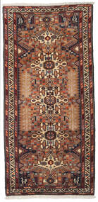 Hamadan Teppe 96X202 Ekte Orientalsk Håndknyttet Mørk Brun/Svart (Ull, Persia/Iran)