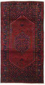 Hamadan Matto 102X198 Itämainen Käsinsolmittu Tummanpunainen/Tummanruskea (Villa, Persia/Iran)