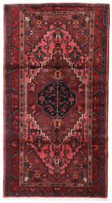Hamadan Alfombra 108X200 Oriental Hecha A Mano Rojo Oscuro (Lana, Persia/Irán)