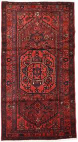 Hamadan Teppich  111X210 Echter Orientalischer Handgeknüpfter Dunkelrot/Rost/Rot (Wolle, Persien/Iran)