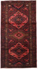 Hamadan Tapis 107X207 D'orient Fait Main Rouge Foncé/Marron Foncé (Laine, Perse/Iran)
