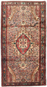 Hamadan Rug 107X204 Authentic  Oriental Handknotted Dark Brown/Dark Red (Wool, Persia/Iran)