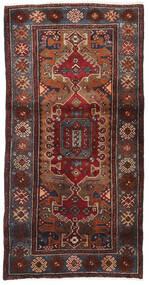 Hamadan Rug 94X189 Authentic Oriental Handknotted Dark Red/Black (Wool, Persia/Iran)