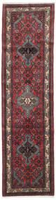 Asadabad Rug 80X300 Authentic Oriental Handknotted Hallway Runner Dark Red/Dark Brown (Wool, Persia/Iran)