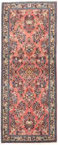 Sarough Tæppe 78X197 Ægte Orientalsk Håndknyttet Tæppeløber Mørkerød/Lyserød (Uld, Persien/Iran)
